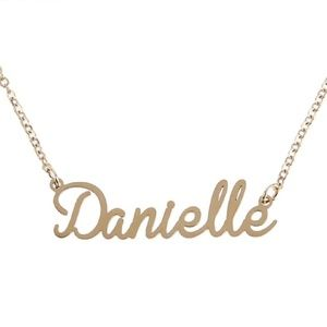 Jewelry - Danielle Gold Name Nameplate Necklace B25